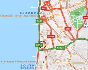 Blackpool South Location